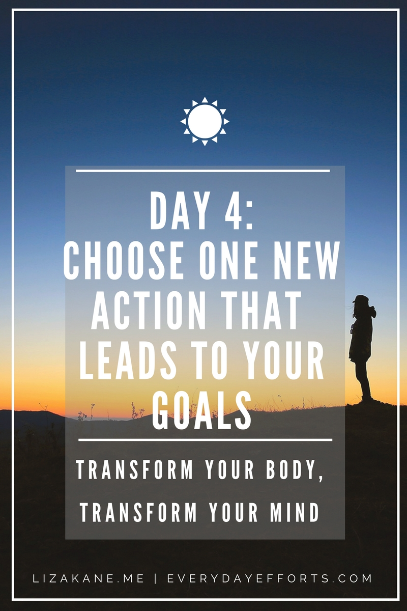 Identify any gaps you may have from your daily routine versus your ideal routine. Choose one action that will close the gap.